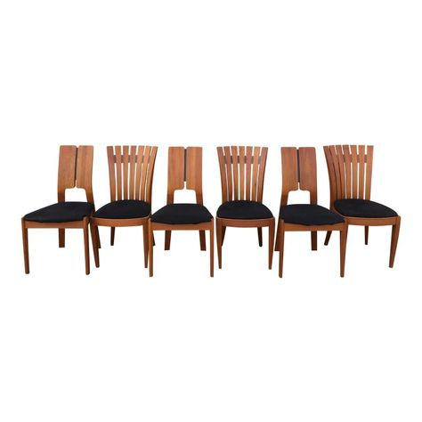 Vintage Sun Cabinet Co Teak Dining Chairs Set Of 6