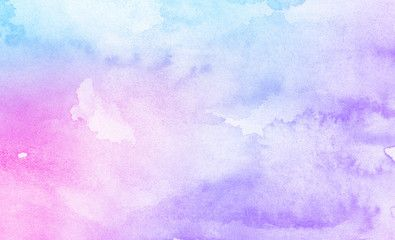 Fantasy Smooth Light Pink Purple Shades And Blue Watercolor Paper