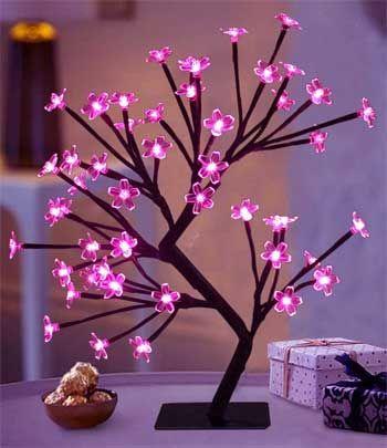 Pin By Laura Hilborn On Bathroom Plants Flower Lights Cherry Blossom Tree Tree Lighting