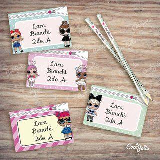 Etiquetas Escolares Lol Imprimibles Personalizables Etiquetas Para Lapices Etiqueta Escolares Etiquetas Para Libretas
