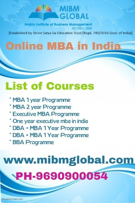 One Year Executive Mba In India Online Mba Education Trust Online Education