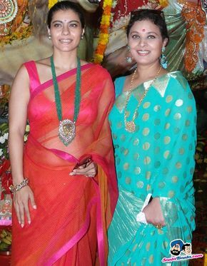 Kajol and Sharbani Mukherjee Picture Gallery image # 237925 at Bollywood Stars Celebrate Durga Pooja containing well categorized pictures,photos,pics and images.Kajol looking gorgeous **************************************************