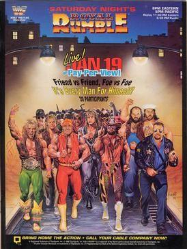 Royal Rumble 1991 Royal Rumble Wrestling Posters Wwe Royal Rumble