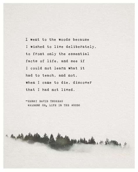 Henry David Thoreau Quote Walden: or Life in by Riverwaystudios