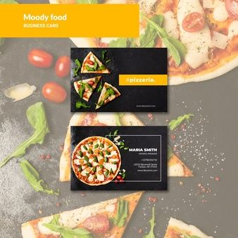 Download Moody Restaurant Food Business Card Mock Up For Free In 2020 Food Business Card Business Card Mock Up Printing Business Cards