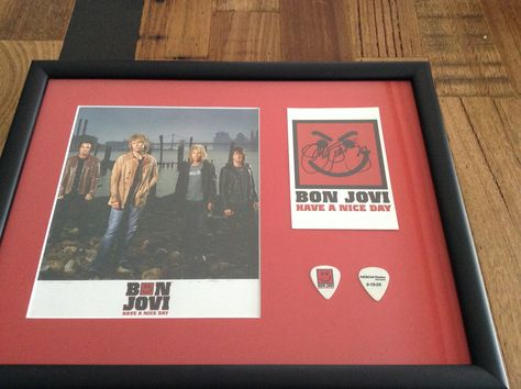 Bon Jovi Have A Nice Day Framed Memorabilia From My Personal