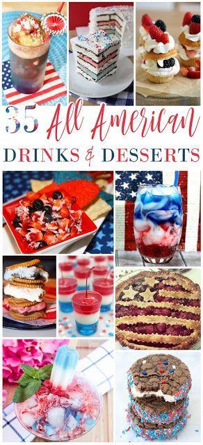 35 All American Drinks Desserts American Drinks Food Recipes