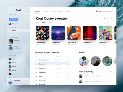 Music Player | UI Design | App ui design, Ios app design, Web ui design