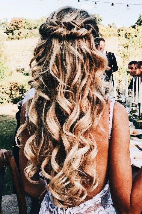 Half Up Half Down Wedding Hairstyles Weddings Hairstyles
