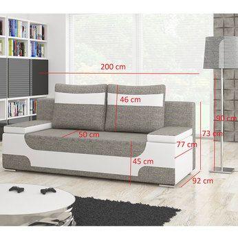 Canape 2 Places Convertible Noir Et Blanc Sofamobili With Images Corner Sofa Design Outdoor Furniture Small Space Sofa Design