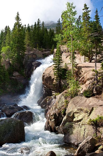 Colorado, Rocky Mountains Anyplace with a waterfall is a good place Beautiful Waterfalls, Beautiful Landscapes, Colorado Rocky Mountains, Colorado Usa, Colorado Rockies, Rocky Mountain National Park, Nature Pictures, Amazing Nature, The Great Outdoors