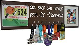 Sports Medal /& Bib hanger holder //display Cinderella Bib /& Medal Runner