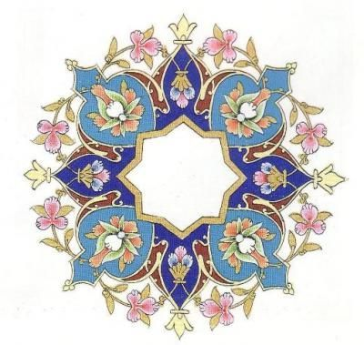 Contoh Gambar Dekoratif Hewan Tumbuhan Dan Motif Hias Dizeen Seni Pola Seni Islamis Seni Arab