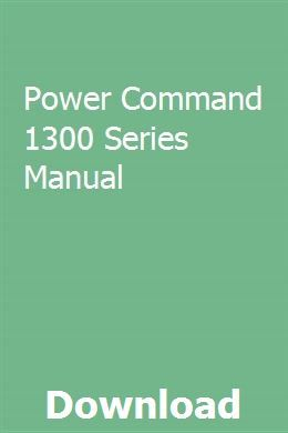 Power Command 1300 Series Manual Owners Manuals Study Guide Manual