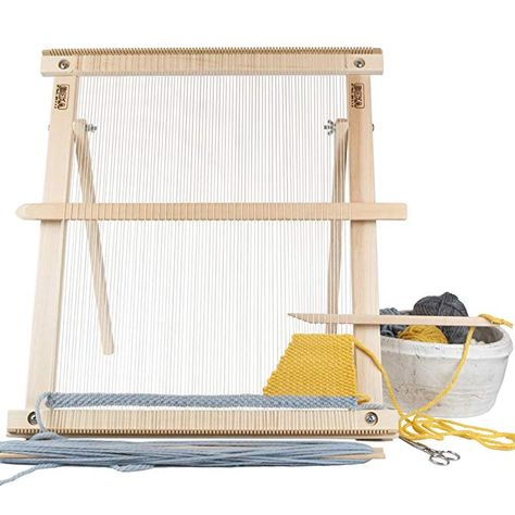 GRAY Beka 20 FRAME LOOM WEAVING KIT//EVERYTHING YOU NEED TO MAKE YOUR OWN WOVEN WALL HANGING