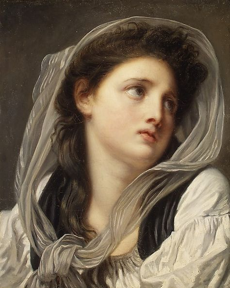 Head of a Young Woman by Jean Baptiste Greuze