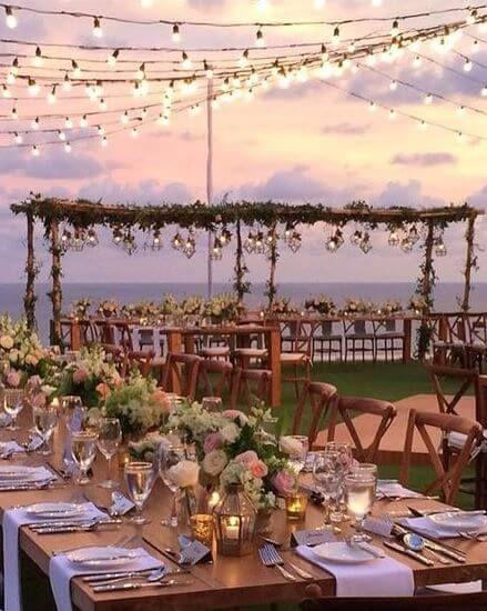 Romantic Radiance 70 Dreamy Lighting Ideas For Your Big Day Make Happy Memories Outdoor Wedding Bali Wedding Wedding Colors