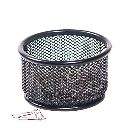 Brenton Studio Metro Mesh Paper Clip Holder Black Giftryapp Paper Clips Holder Paper Clip Desk Organization