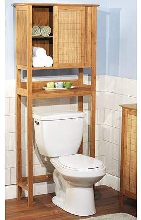 Bamboo Over The Toilet Space Saver Bathroom Organization Diy Toilet Storage Bathroom Space Saver