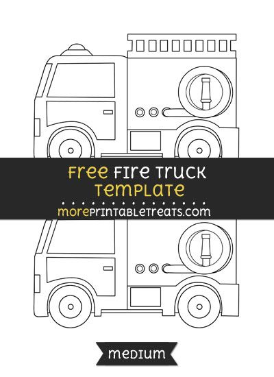 image relating to Fire Truck Template Printable identified as Totally free Hearth Truck Template - Medium Styles and Templates
