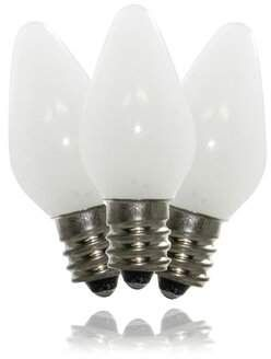 Queens Of Christmas 25 Watt Equivalent C7 Led Dimmable Light Bulb Pure White E12 Candelabra Base Wayfair Dimmable Light Bulbs Light Bulb Light Bulb Candle