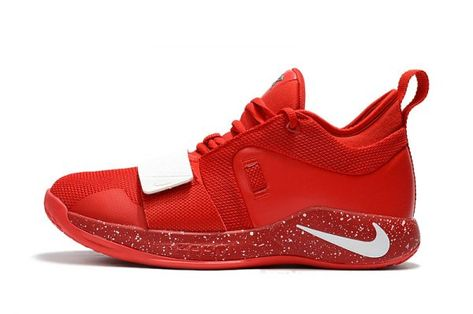 1bf54ad06102 Paul George s Nike PG 2.5 University Red White Basketball Shoes in ...