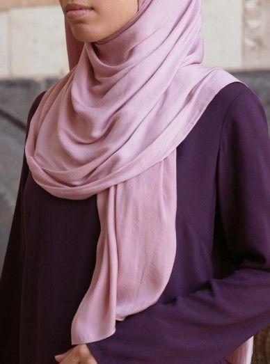 Luxury Hammered Satin Hijab Women Tunic Tops Hijab Collection Denim Maxi Dress