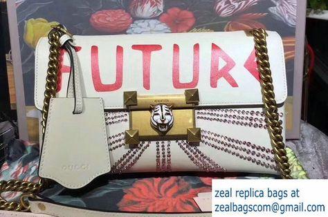 3cbe11b28 Gucci Crystal Embellished Shoulder Bag 477330 Future White 2017 ...