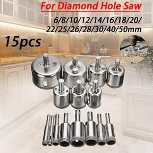15pcs Diamond Glass Drill Bit Set In 2020 Drill Bits Ceramic Tiles Drill Bit Sets