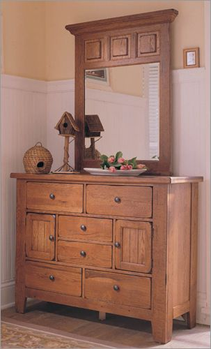 Attic Heirlooms Door Dresser - Original Oak by Broyhill | Broyhill ...