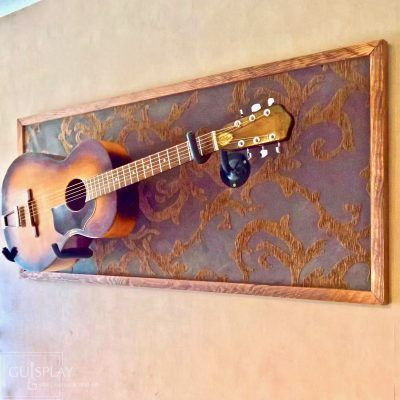 Horizontal Guitar Wall Hanger Show Off Your Guitars Guitar Display Case Wall Hanger Wall Mount By Guispl Guitar Wall Guitar Display Guitar Wall Hanger