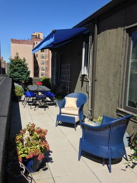 Penthouse NYC Awning sold and Installed by Breslow Home Design www ...