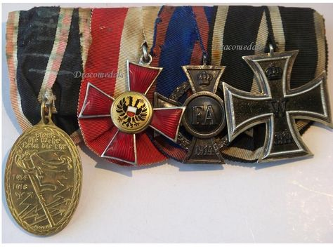 Military Service Medal Award WW1 Imperial German Army LUBECK HANSEATIC CROSS