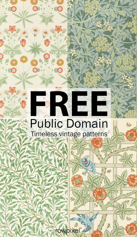 54 Best Ideas For Design Pattern Art William Morris Motif Vintage, Vintage Patterns, Vintage Art, Vintage Pattern Design, Vintage Crafts, Vintage Ephemera, Vintage Paper, Arts And Crafts Movement, Fun Craft