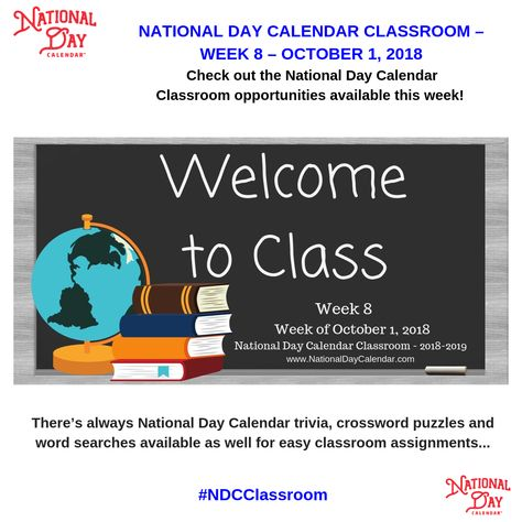 National Day Calendar provides teachers with weekly Classroom Hacks