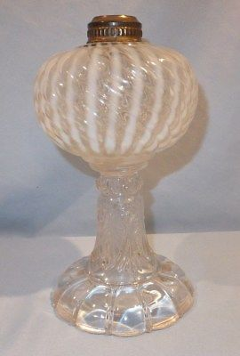 1880 Sheldon Swirl Oil Lamp Oil Lamps Lamp Antique Lamps