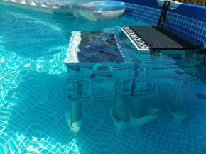 2016 Diy Swimming Pool Dog Ramp Dog Stairs Pooltreppe Pool Pallets Dog Pool Diy Swimming Pool Shipping Container Swimming Pool