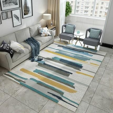 Modern Nordic Memory Foam Rug Warmly Rugs In Living Room