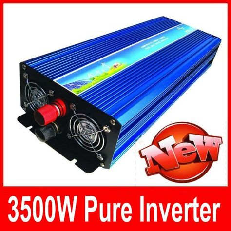 6000W Solar Power Inverter Dc 24V A 220V Ac Display Led Onda Sinusoidale Converter