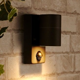 Dan Outdoor Wall Light With Pir Sensor Anthracite Lyco