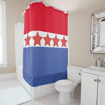 Stars And Stripes Patriotic 4th Of July Decorative Shower Curtain Zazzle Com Shower Curtain Decor Custom Shower Curtains Country Shower Curtain 4th of july bathroom decor