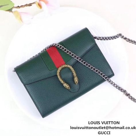 dcb9fe8d19c Gucci Dionysus Leather Mini Chain Bag with Web 401231 Green 2017  (XYS-7102415 )