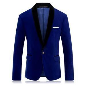 e3aa046f4 Brand Red Blue Velour Blazer Men Slim Fit Mens Velvet Blazers Casual ...