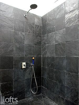 Black Tile Shower Slate Google Search In 2020 Shower Tile Trendy Bathroom Tiles Black Bathroom