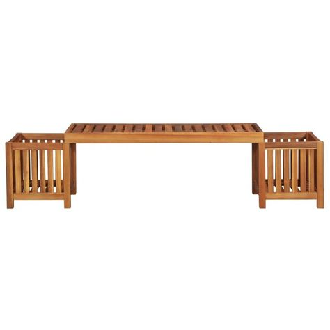 East Urban Home Jonathan Wooden Planter Bench  Reviews | Wayfair