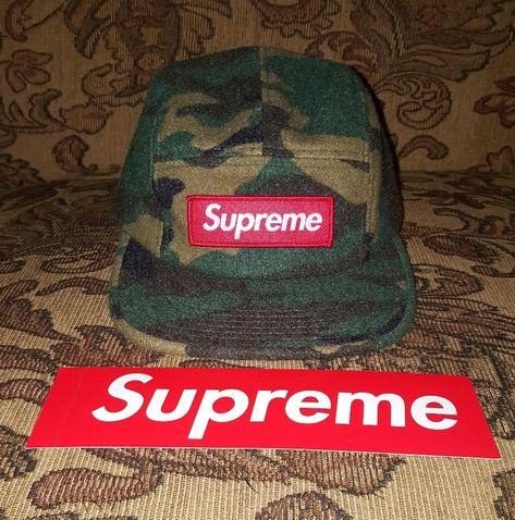 SUPREME MILITARY CAMP CAP PURPLE SS19 2019 HAT RED WHITE BLACK BOX LOGO CDG