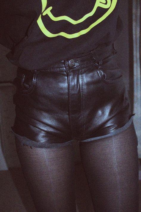 Leather shorts NEED