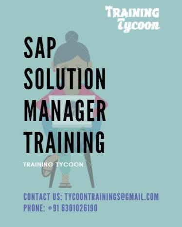 Sap Solution Manager Training Best Sap Solman 7 2 Online Training In 2020 Classroom Training Online Training Manager Online