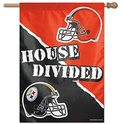Pittsburgh Steelers Cleveland Browns House Divided House Banner 28 In X 40 In Winc20912017h Steelers Vs Browns