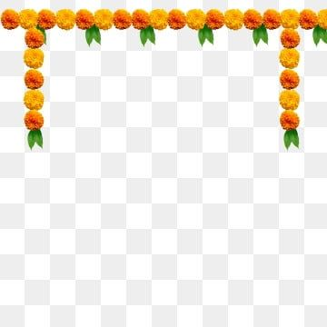 Mango Leaves And Marigold Vector Image Wedding Vector Art Floral Vector Png Banner Background Images